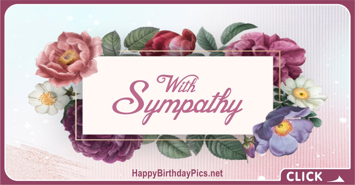 Condolence and Sympathy Cards 01 with purple vintage flowers Card Equivalents