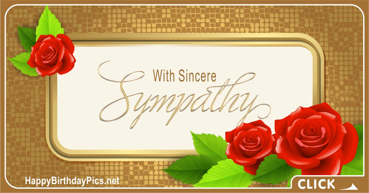 Condolence Message with Gold and Red Roses