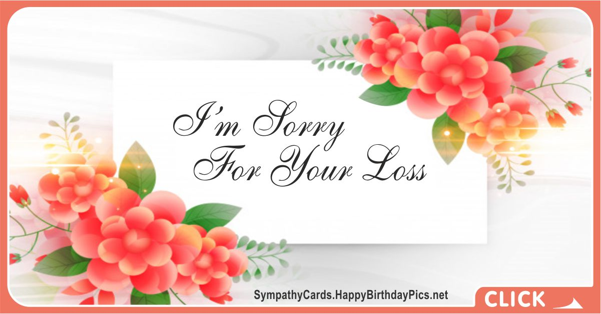 So Sorry For Your Loss - Condolence Message Card Equivalents