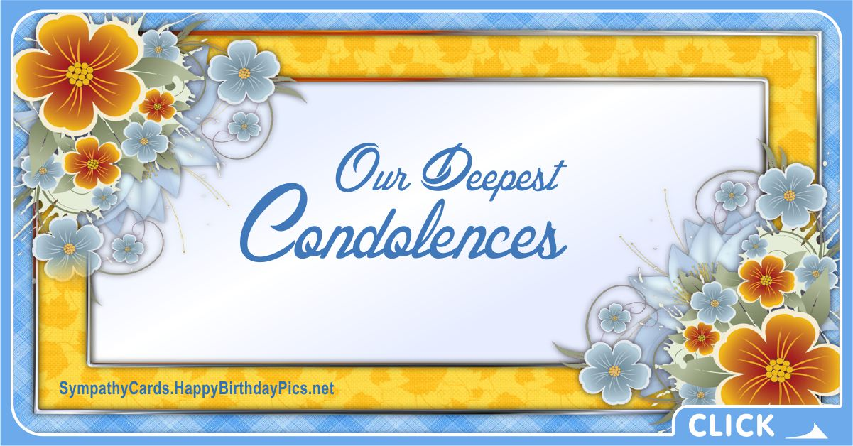 Our Deepest Condolences - Sympathy Card