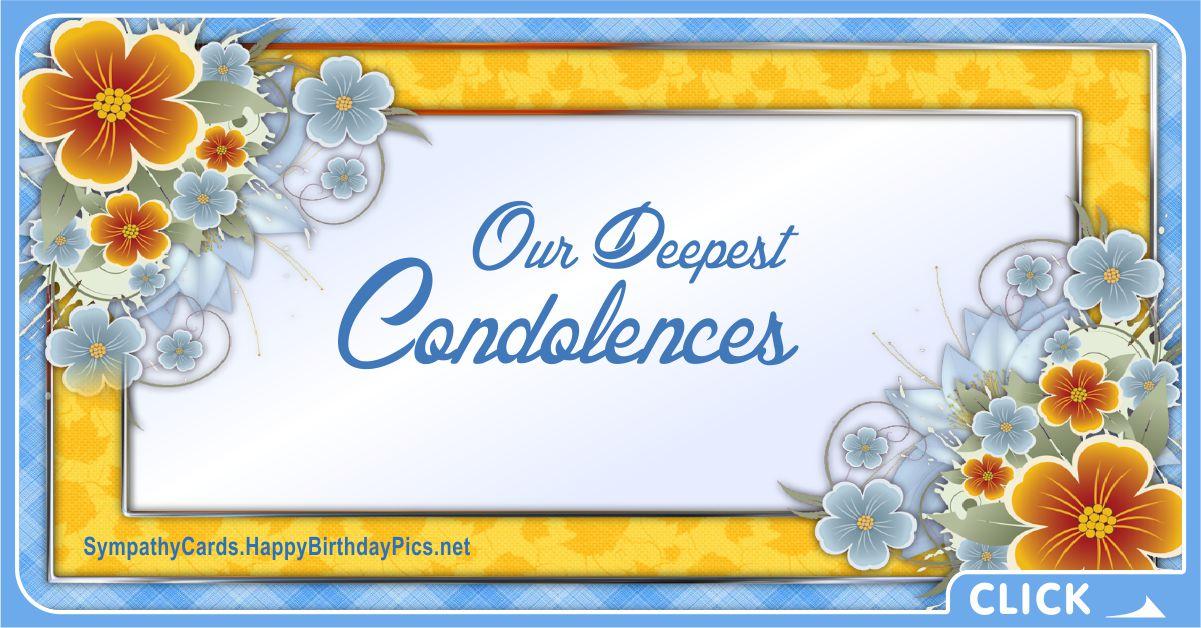 Our Deepest Condolences - Sympathy Card