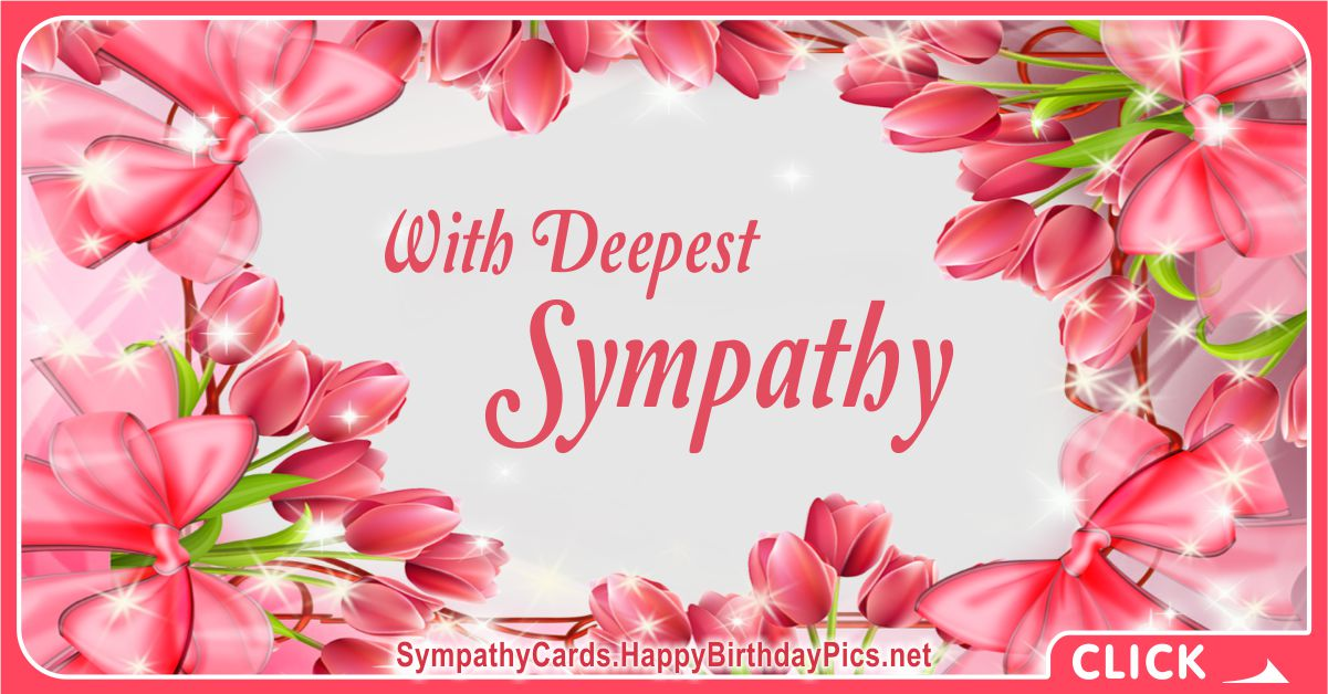 Pink Tulips With Deepest Sympathy Message