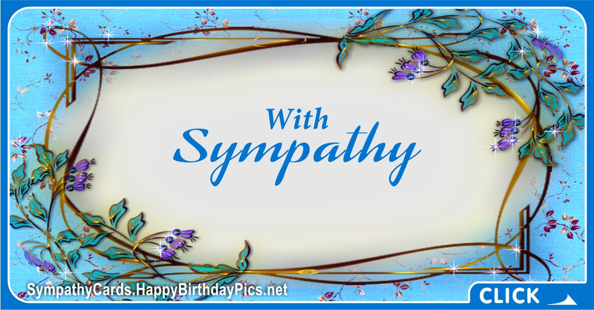 With Sympathy - Condolence Message Card